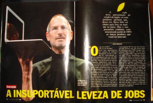 Steve Jobs na Revista Veja