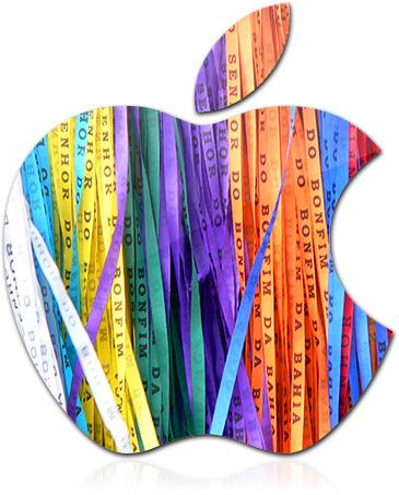 Apple com fitinhas do Senhor do Bonfim