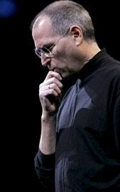 Steve jobs durante apresentação na Macworld