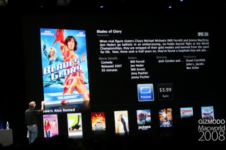 Interface do Apple TV 2