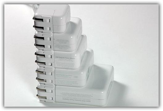 Caixas de força de diversos produtos da Apple