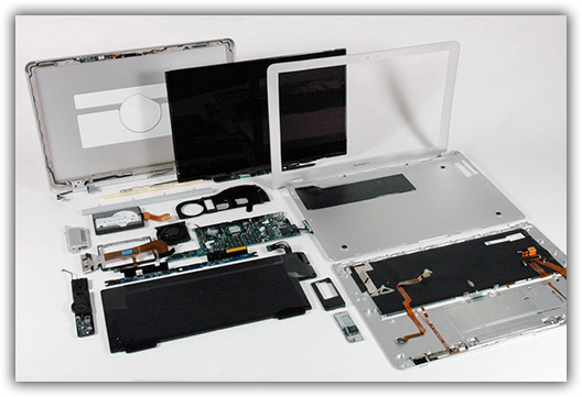 MacBook Air completamente dissecado