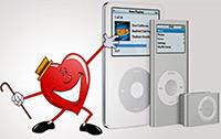 iPods e marcas-passo