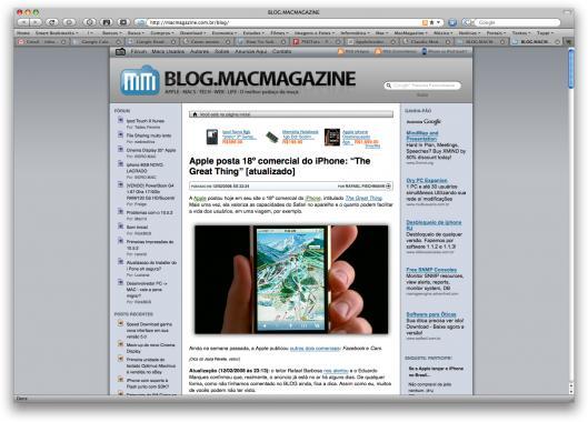 Firefox 3.0 Beta 3 rodando no Mac OS X