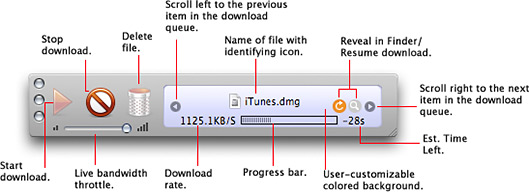 Modo minimizado do Speed Download 5.0