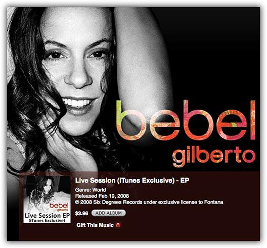 Bebel Gilberto na iTunes Store