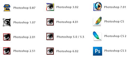 Ícones do Photoshop