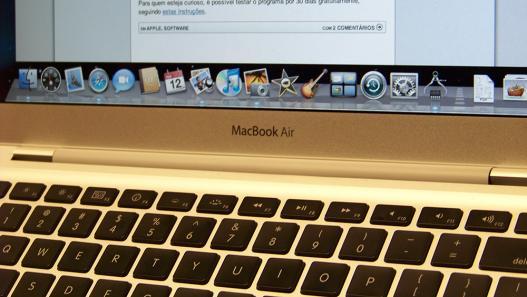 Teclado do MacBook Air