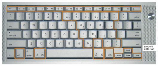 Teclado antigo do MacBook Pro