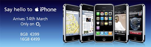 iPhone na Irlanda pela O2