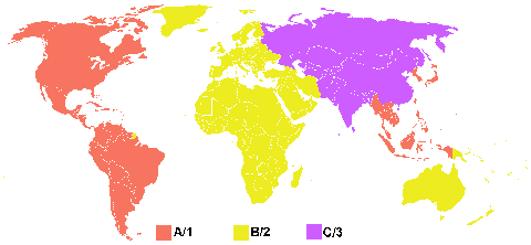 Regiões do Blu-ray