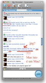 Janela de chat do MSN