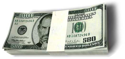 Steve Jobs' money (dinheiro)