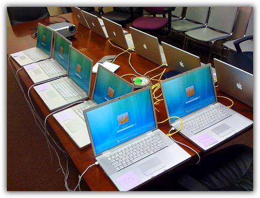 MacBooks Pro com Windows Vista
