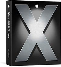 Caixa do Mac OS X Tiger 10.4