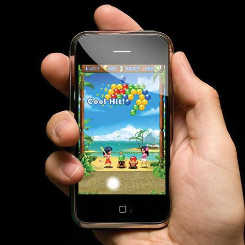 Simulação de jogo da Gameloft no iPhone