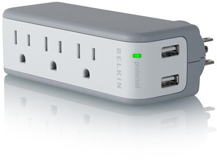 Mini Surge Protector with USB Charger