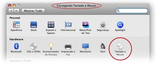Erro ao abrir o painel de Mouse e Teclado
