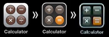 Evolução no ícone da calculadora