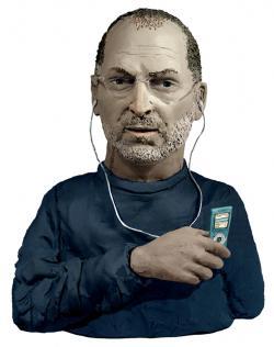 Escultura do Steve Jobs