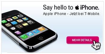 iPhone na página da T-Mobile Áustria