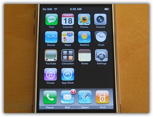 Novos ícones da Calculadora e iTunes, adição da App Store (ainda não funciona)