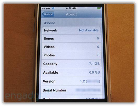 Software por enquanto identificado como versão 1.2
