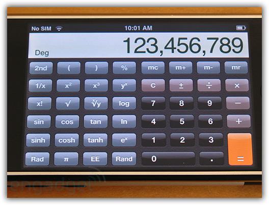 Calculadora vira científica na horizontal