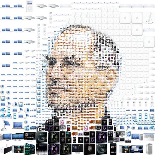 Steve Jobs em produtos da Apple