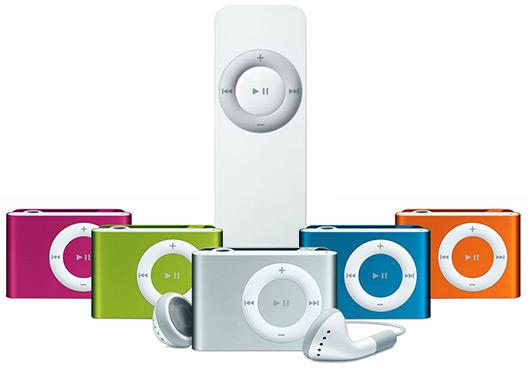 iPods shuffle 1G e 2G