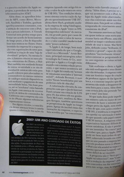 HSM Management 67 com Apple e Steve Jobs
