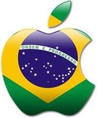 Logo da Apple com bandeira do Brasil