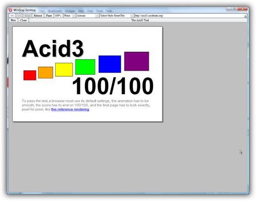 Opera 100/100 no ACID 3