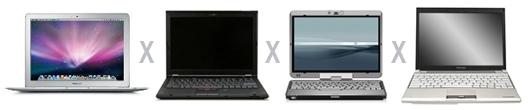 MacBook Air - Lenovo - HP Compaq - Toshiba Portege