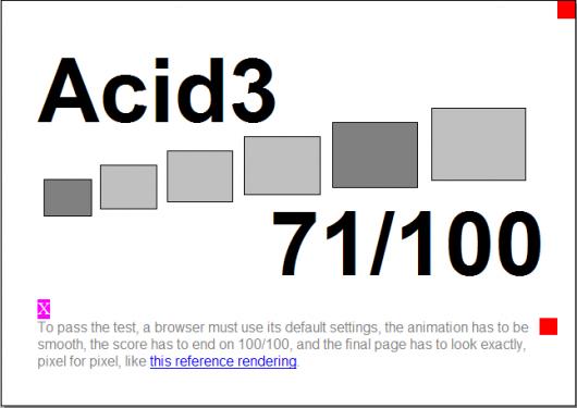 Firefox no teste ACID3