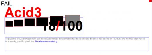Internet Explorer no teste ACID3