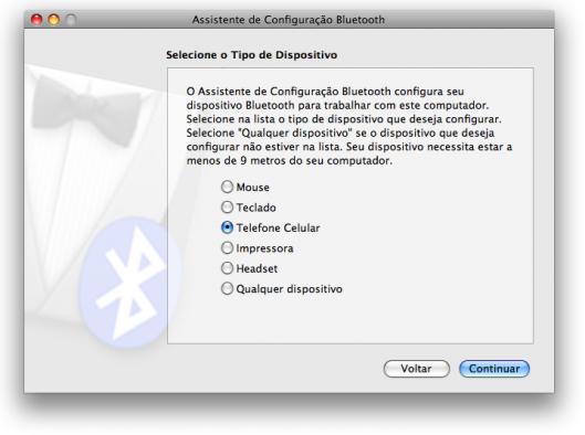 Escolha qual aparelho irá conectar-se por Bluetooth