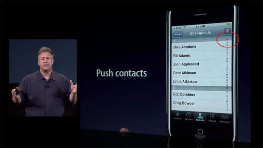 Busca em contatos na iPhone firmware 2.0?