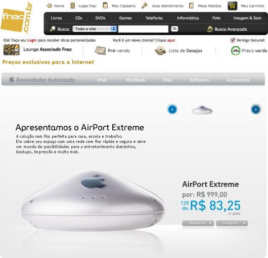AirPort Extreme antigo à venda na Fnac