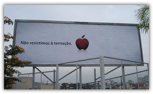 Outdoor com a maçã