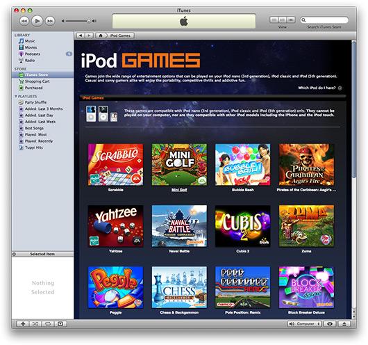 iPod Games na iTunes Store