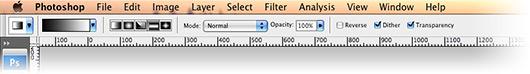 Configuração do gradiente do Photoshop