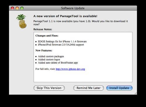 Software Update da PwnageTool