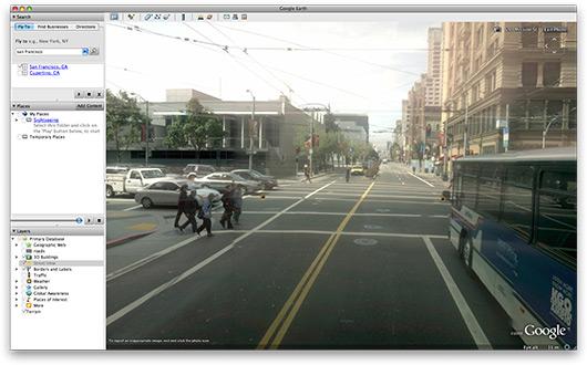Street View no Google Earth