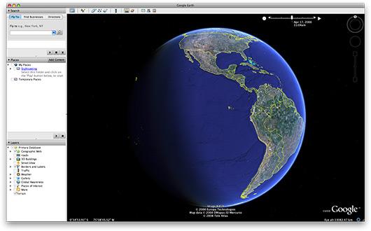 Posição do Sol no Google Earth