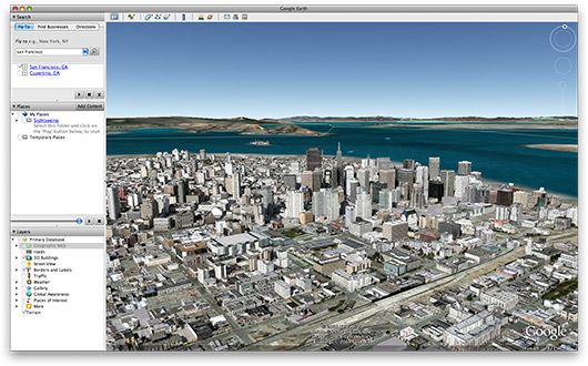 Edifícios 3D no Google Earth
