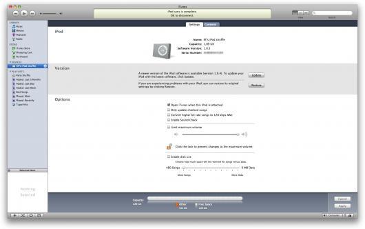 iPod shuffle no iTunes