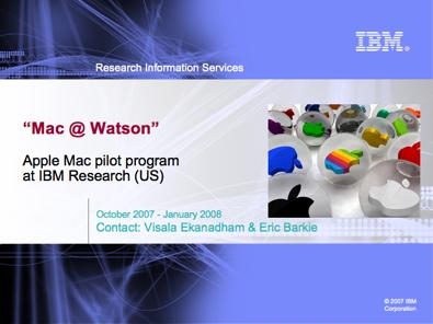Piloto da IBM de migração para Macs