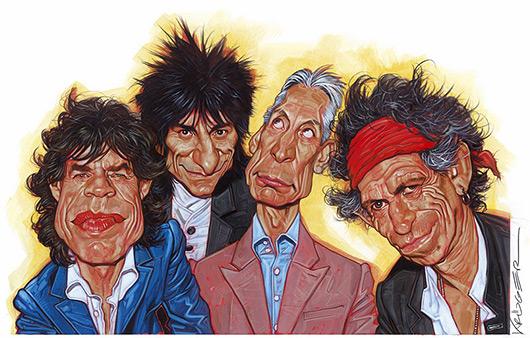 Caricatura dos Rolling Stones