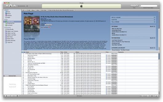 Discografia do Pink Floyd na iTunes Store